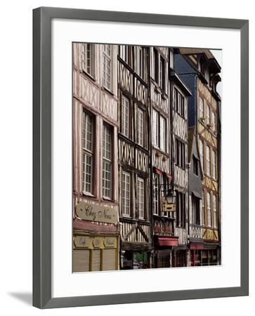 Timber-Framed Houses and Shops in the Restored City Centre, Rouen, Haute Normandie, France-Pearl Bucknall-Framed Photographic Print