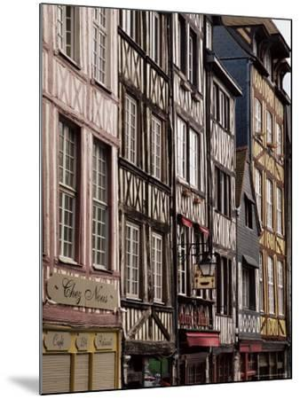 Timber-Framed Houses and Shops in the Restored City Centre, Rouen, Haute Normandie, France-Pearl Bucknall-Mounted Photographic Print