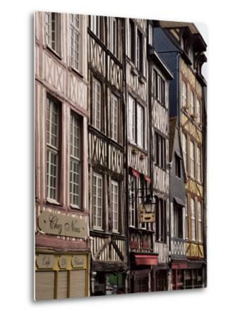 Timber-Framed Houses and Shops in the Restored City Centre, Rouen, Haute Normandie, France-Pearl Bucknall-Metal Print