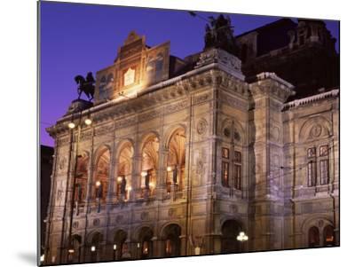 The Opera at Night, Vienna, Austria-Jean Brooks-Mounted Photographic Print
