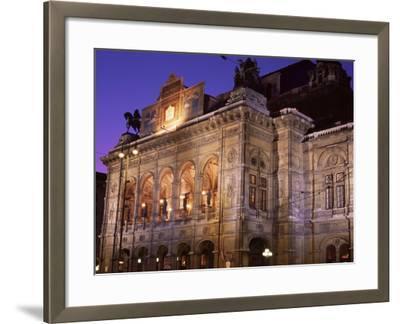 The Opera at Night, Vienna, Austria-Jean Brooks-Framed Photographic Print