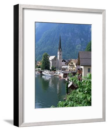 Village and Lake, Hallstatt, Austrian Lakes, Austria-Jean Brooks-Framed Premium Photographic Print