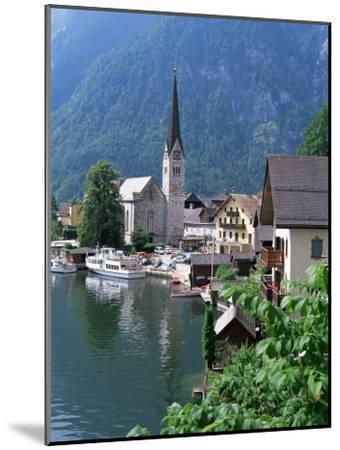 Village and Lake, Hallstatt, Austrian Lakes, Austria-Jean Brooks-Mounted Premium Photographic Print