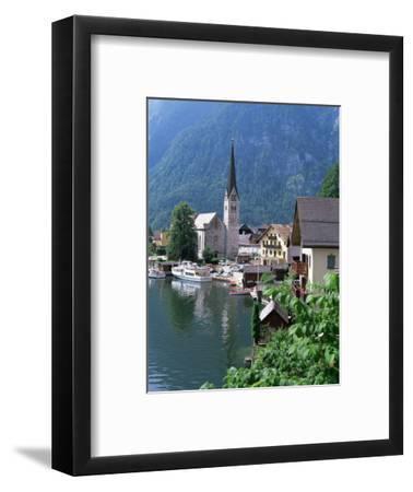 Village and Lake, Hallstatt, Austrian Lakes, Austria-Jean Brooks-Framed Photographic Print