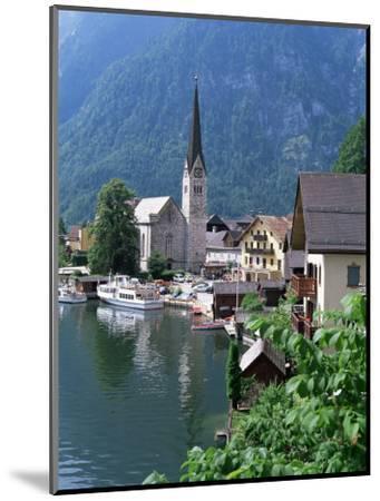 Village and Lake, Hallstatt, Austrian Lakes, Austria-Jean Brooks-Mounted Photographic Print