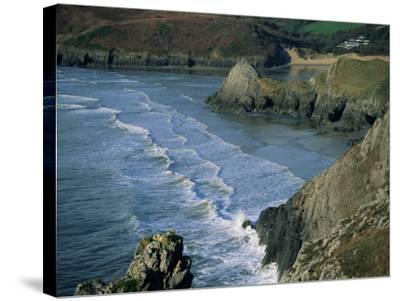 Three Cliffs Bay, Gower Peninsula, Glamorgan, Wales, United Kingdom-Jean Brooks-Stretched Canvas Print