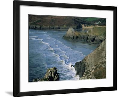 Three Cliffs Bay, Gower Peninsula, Glamorgan, Wales, United Kingdom-Jean Brooks-Framed Photographic Print