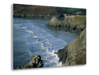 Three Cliffs Bay, Gower Peninsula, Glamorgan, Wales, United Kingdom-Jean Brooks-Metal Print
