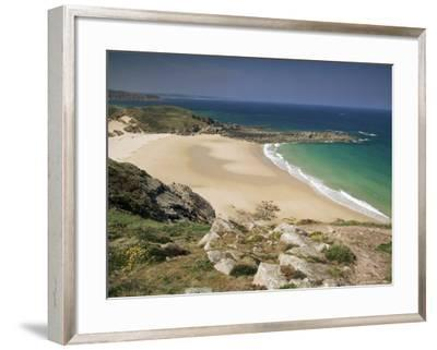 Beach Near Cap Frehel, Emerald Coast, Brittany, France-Michael Busselle-Framed Photographic Print