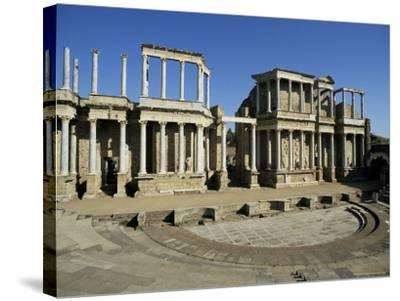 Roman Arena, Merida, Badajoz, Extramadura, Spain-Michael Busselle-Stretched Canvas Print
