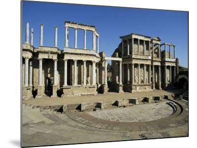 Roman Arena, Merida, Badajoz, Extramadura, Spain-Michael Busselle-Mounted Photographic Print