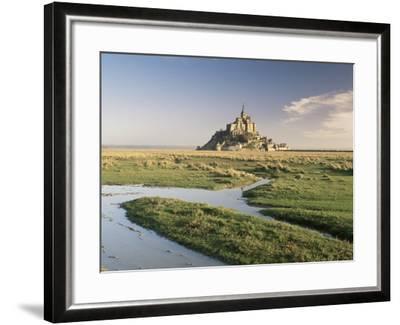 Mont St. Michel, Unesco World Heritage Site, Basse Normandie, France-Michael Busselle-Framed Photographic Print