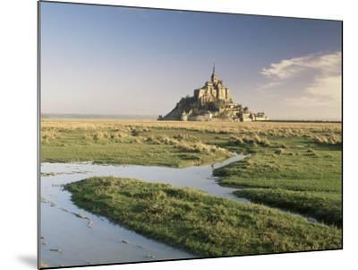 Mont St. Michel, Unesco World Heritage Site, Basse Normandie, France-Michael Busselle-Mounted Photographic Print