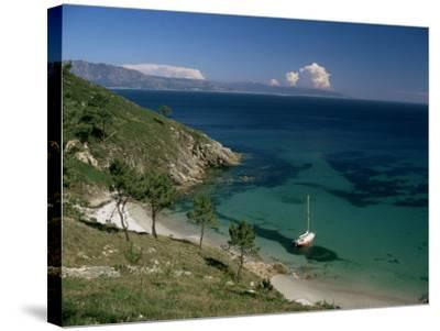 Cape Finisterre, Galicia, Spain-Michael Busselle-Stretched Canvas Print