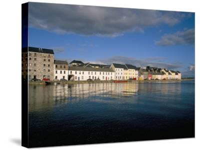 Long Walk View from Claddagh Quay, Galway Town, County Galway, Connacht, Eire (Ireland)-Bruno Barbier-Stretched Canvas Print