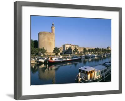 Quai Des Croisades, Aigues-Mortes, Languedoc-Roussillon, France-Bruno Barbier-Framed Premium Photographic Print