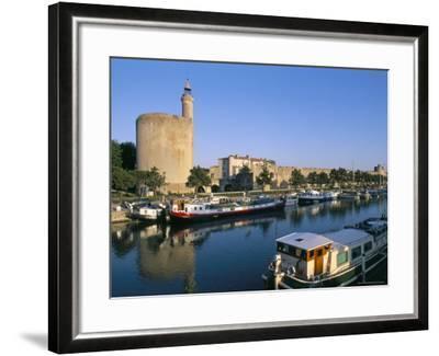 Quai Des Croisades, Aigues-Mortes, Languedoc-Roussillon, France-Bruno Barbier-Framed Photographic Print
