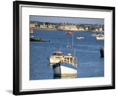 Town of Roscoff, Finistere, Brittany, France-Bruno Barbier-Framed Photographic Print