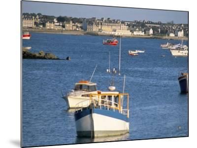 Town of Roscoff, Finistere, Brittany, France-Bruno Barbier-Mounted Photographic Print