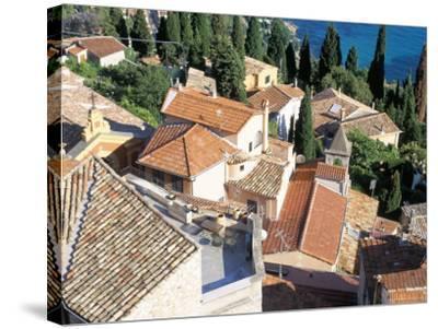 Village of Roquebrune-Cap-Martin, Alpes Maritimes, Cote d'Azur, Provence, France-Bruno Barbier-Stretched Canvas Print
