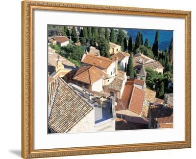 Village of Roquebrune-Cap-Martin, Alpes Maritimes, Cote d'Azur, Provence, France-Bruno Barbier-Framed Photographic Print