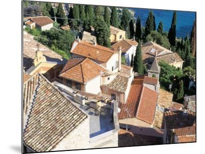Village of Roquebrune-Cap-Martin, Alpes Maritimes, Cote d'Azur, Provence, France-Bruno Barbier-Mounted Photographic Print