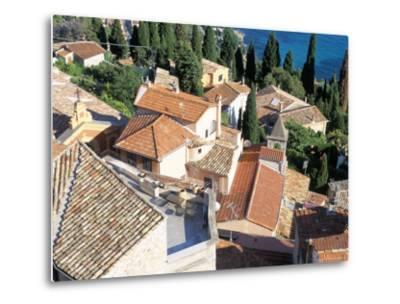 Village of Roquebrune-Cap-Martin, Alpes Maritimes, Cote d'Azur, Provence, France-Bruno Barbier-Metal Print