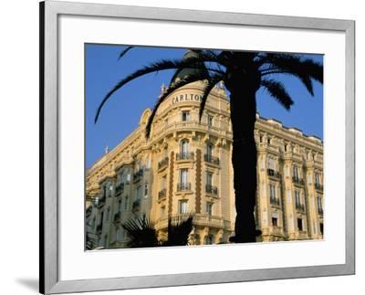 Carlton Hotel, Boulevard De La Croisette, Cannes, Alpes-Maritimes, French Riviera, Provence, France-Bruno Barbier-Framed Photographic Print