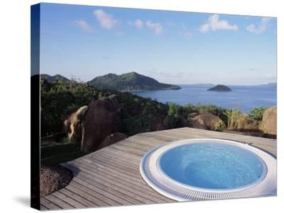 Chateau De Feuilles, Anse De Marie Louise, South Coast, Island of Praslin, Seychelles-Bruno Barbier-Stretched Canvas Print