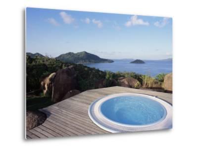 Chateau De Feuilles, Anse De Marie Louise, South Coast, Island of Praslin, Seychelles-Bruno Barbier-Metal Print