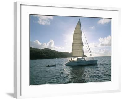 Catamaran, Island of Praslin, Seychelles, Indian Ocean, Africa-Bruno Barbier-Framed Photographic Print