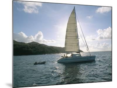 Catamaran, Island of Praslin, Seychelles, Indian Ocean, Africa-Bruno Barbier-Mounted Photographic Print