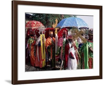 Procession for Christian Festival of Rameaux, Axoum (Axum) (Aksum), Tigre Region, Ethiopia, Africa-Bruno Barbier-Framed Photographic Print