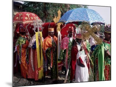 Procession for Christian Festival of Rameaux, Axoum (Axum) (Aksum), Tigre Region, Ethiopia, Africa-Bruno Barbier-Mounted Photographic Print