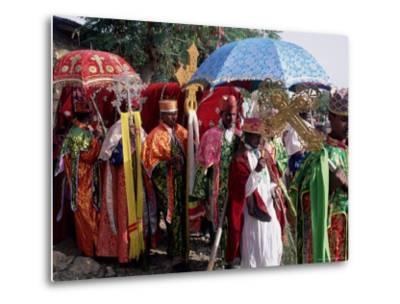 Procession for Christian Festival of Rameaux, Axoum (Axum) (Aksum), Tigre Region, Ethiopia, Africa-Bruno Barbier-Metal Print