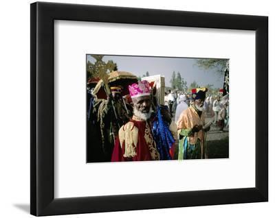 Palm Sunday Procession, Axoum (Axum) (Aksum), Tigre Region, Ethiopia, Africa-Bruno Barbier-Framed Photographic Print