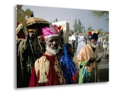 Palm Sunday Procession, Axoum (Axum) (Aksum), Tigre Region, Ethiopia, Africa-Bruno Barbier-Metal Print