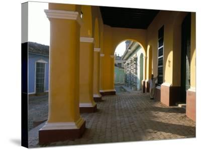 Arcades of the Maison Romantique, Town of Trinidad, Unesco World Heritage Site, Cuba-Bruno Barbier-Stretched Canvas Print