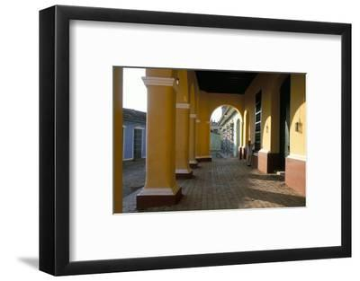 Arcades of the Maison Romantique, Town of Trinidad, Unesco World Heritage Site, Cuba-Bruno Barbier-Framed Photographic Print