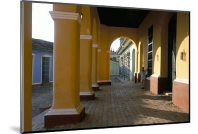 Arcades of the Maison Romantique, Town of Trinidad, Unesco World Heritage Site, Cuba-Bruno Barbier-Mounted Photographic Print