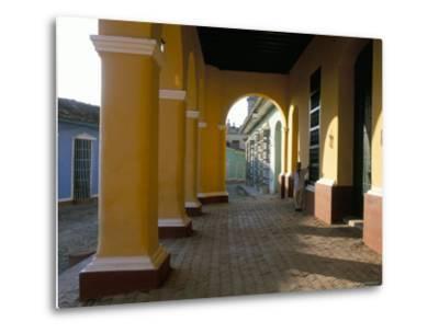 Arcades of the Maison Romantique, Town of Trinidad, Unesco World Heritage Site, Cuba-Bruno Barbier-Metal Print