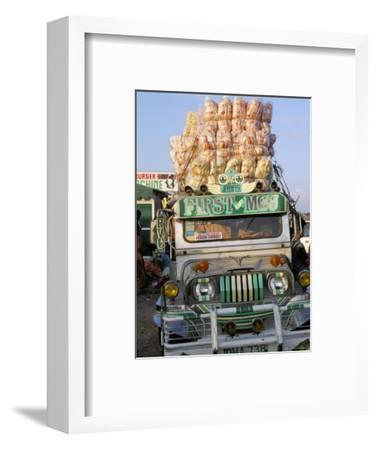 Jeepney, Port of Lucena, Southern Area, Island of Luzon, Philippines, Southeast Asia-Bruno Barbier-Framed Photographic Print