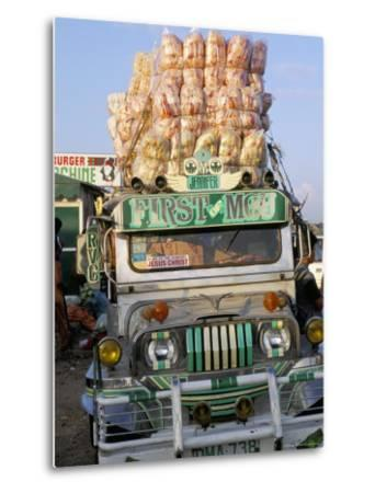 Jeepney, Port of Lucena, Southern Area, Island of Luzon, Philippines, Southeast Asia-Bruno Barbier-Metal Print