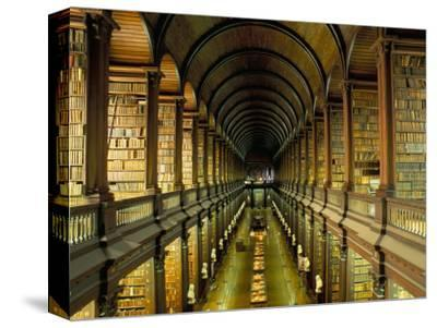 Gallery of the Old Library, Trinity College, Dublin, County Dublin, Eire (Ireland)-Bruno Barbier-Stretched Canvas Print