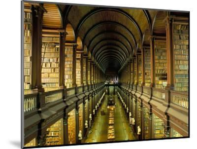 Gallery of the Old Library, Trinity College, Dublin, County Dublin, Eire (Ireland)-Bruno Barbier-Mounted Premium Photographic Print
