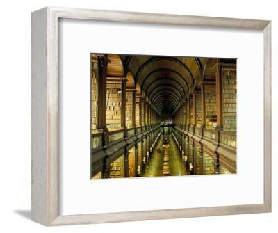Gallery of the Old Library, Trinity College, Dublin, County Dublin, Eire (Ireland)-Bruno Barbier-Framed Premium Photographic Print