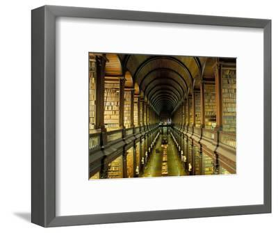 Gallery of the Old Library, Trinity College, Dublin, County Dublin, Eire (Ireland)-Bruno Barbier-Framed Photographic Print