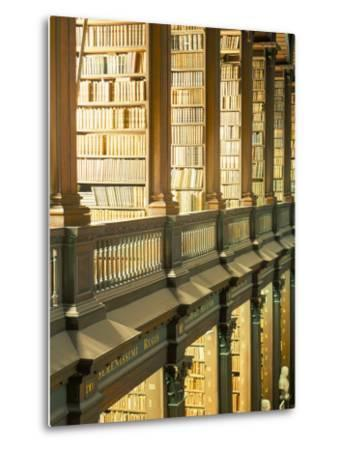 Gallery of the Old Library, Trinity College, Dublin, County Dublin, Eire (Ireland)-Bruno Barbier-Metal Print