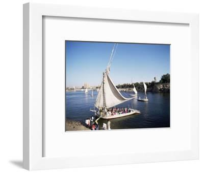 Feluccas on the River Nile, Aswan, Egypt, North Africa, Africa-Philip Craven-Framed Photographic Print