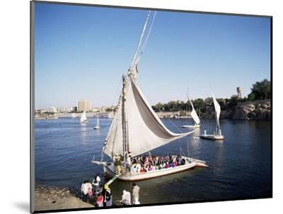 Feluccas on the River Nile, Aswan, Egypt, North Africa, Africa-Philip Craven-Mounted Photographic Print